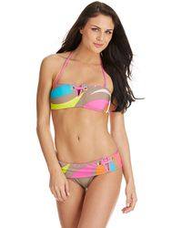 Trina Turk Pop Wave Bandeau Swim Top - Lyst