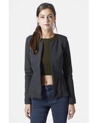 Topshop Tailored Peplum Jacket gray - Lyst