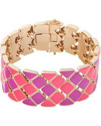 Trina Turk Enamel Mosaic Flex Bracelet - Lyst