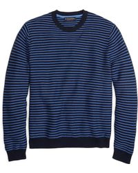 Brooks Brothers Stripe Crewneck Sweater - Lyst