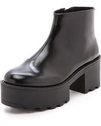 Cheap Monday - Tractor High Booties  Black - Lyst