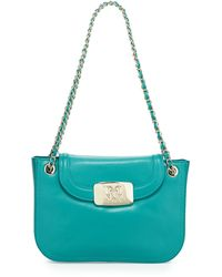 Love Moschino Flaptop Leather Shoulder Bag - Lyst
