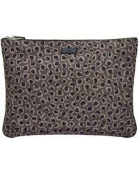 Gucci Animalprint Canvas Pouch - Lyst