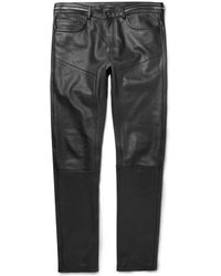 Givenchy Leather Trousers - Lyst