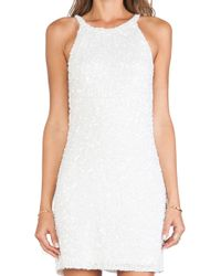 Parker White Audrey Dress - Lyst