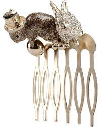 Maison Michel Hair Accessory gold - Lyst