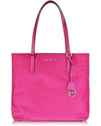 Michael Kors | Morgan Large Raspberry Nylon Tote Bag | Lyst