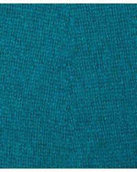 CASH CA - Teal Long Knit Cashmere Gloves - Lyst