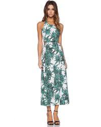 Mara Hoffman Cut Out Tie Back Maxi Dress - Lyst