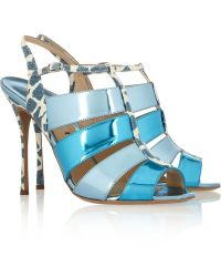 Nicholas Kirkwood Elaphe and Patent Leather Sandals - Lyst