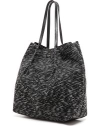 Nina Ricci Tweed Tote  Greyblack - Lyst