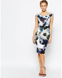 Coast - Teegan Printed Pencil Dress - Lyst