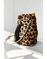 Eleven Thirty - Christie Leopard Bucket Bag - Lyst