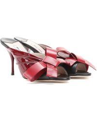Miu Miu Leather Sandals - Lyst