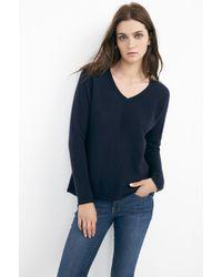 Velvet By Graham & Spencer Dillane Sheer Cashmere V-Neck Sweater - Lyst