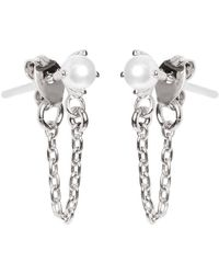 Bing Bang | Pearl Continuous Earrings | Lyst