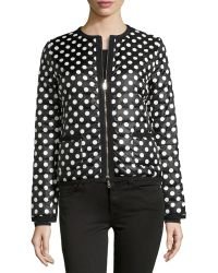 Moncler Miel Polka Dot Quilted Jacket - Lyst