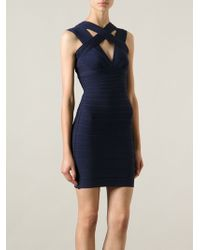 Hervé Léger Laurie Bandage Dress - Lyst