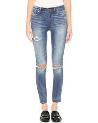 Madewell High Rise Torn Knee Skinny Jeans - Clayton Wash - Lyst