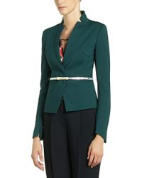Patrizia Pepe Short Belted Jacket in Stretch Fabric - Lyst