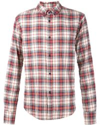Band Of Outsiders Multi Plaid Shirt - Lyst