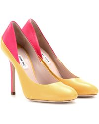 Miu Miu Twotone Leather Pumps - Lyst