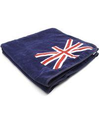 Hackett Jack Navy Blue Beach Towel - Lyst