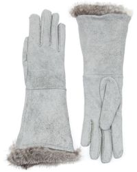 Imoni Rabbit Fur Trim Gloves - Lyst
