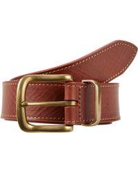 Barneys New York Gold Buckle & Loop Belt beige - Lyst