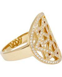 Pamela Love Diamond  Gold Arch Ring - Lyst