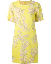 Giambattista Valli Floral Print Shift Dress - Lyst