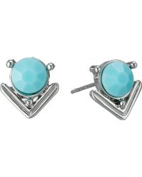 Guess Stud And Stick Linear Duo Earrings Set - Lyst