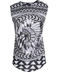Balmain Sleeveless T-Shirt - Lyst