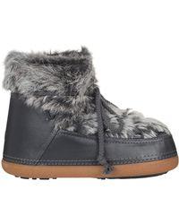 Ikkii - Lace-Up Rabbit-Fur Snow Boots - Lyst