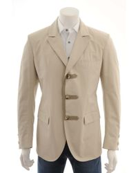 Ermanno Scervino Light Beige Jacket - Lyst