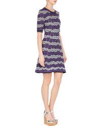 M Missoni Two-Tone Crocheted Dress - Lyst