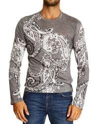 Roberto Cavalli - Just Cavalli Tshirt Long Sleeve Crewneck Mirkash Print - Lyst