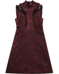 Erdem Ettie Lurex Ruffle Dress - Lyst