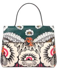 Valentino Printed Leather Top Handle Bag - Lyst