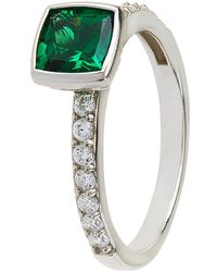 Carat* | Emerald Green Solitaire Ring | Lyst