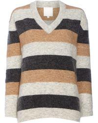 Inwear - Lilly V Neck Stripe Jumper - Lyst