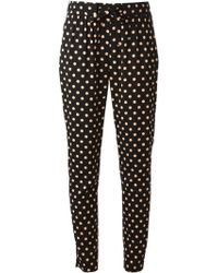 RED Valentino Polka Dot Trousers - Lyst