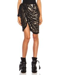 Isabel Marant Felmira Embroidered Georgette Silk Skirt - Lyst