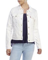 Levi's White Jean Jacket white - Lyst