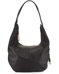 Halston Heritage Pebbled-Leather Zip-Top Hobo Bag - Lyst