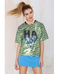 Nasty Gal Funny Business Sequin Top - Lyst