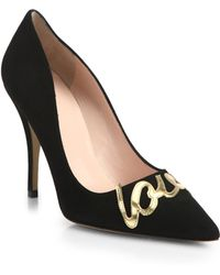 Kate Spade Love Suede Pointy-Toe Pumps - Lyst