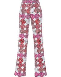 Giamba   Floral Diamond Jacquard Trousers   Lyst