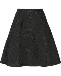 Lanvin Metallic Woolblend Jacquard Skirt - Lyst