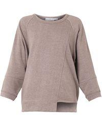 Adidas By Stella Mccartney Cotton Jersey Oversized Sweatshirt - Lyst